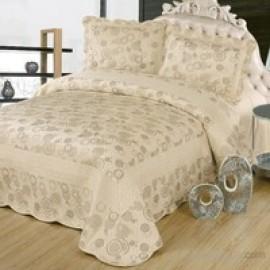 Cotton House Nubuk Safir Çift Kişilik Yatak Örtüsü