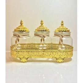 3Lü Gold Kavonoz Set